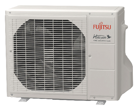 Outdoor units are much smaller than traditional central AC systems