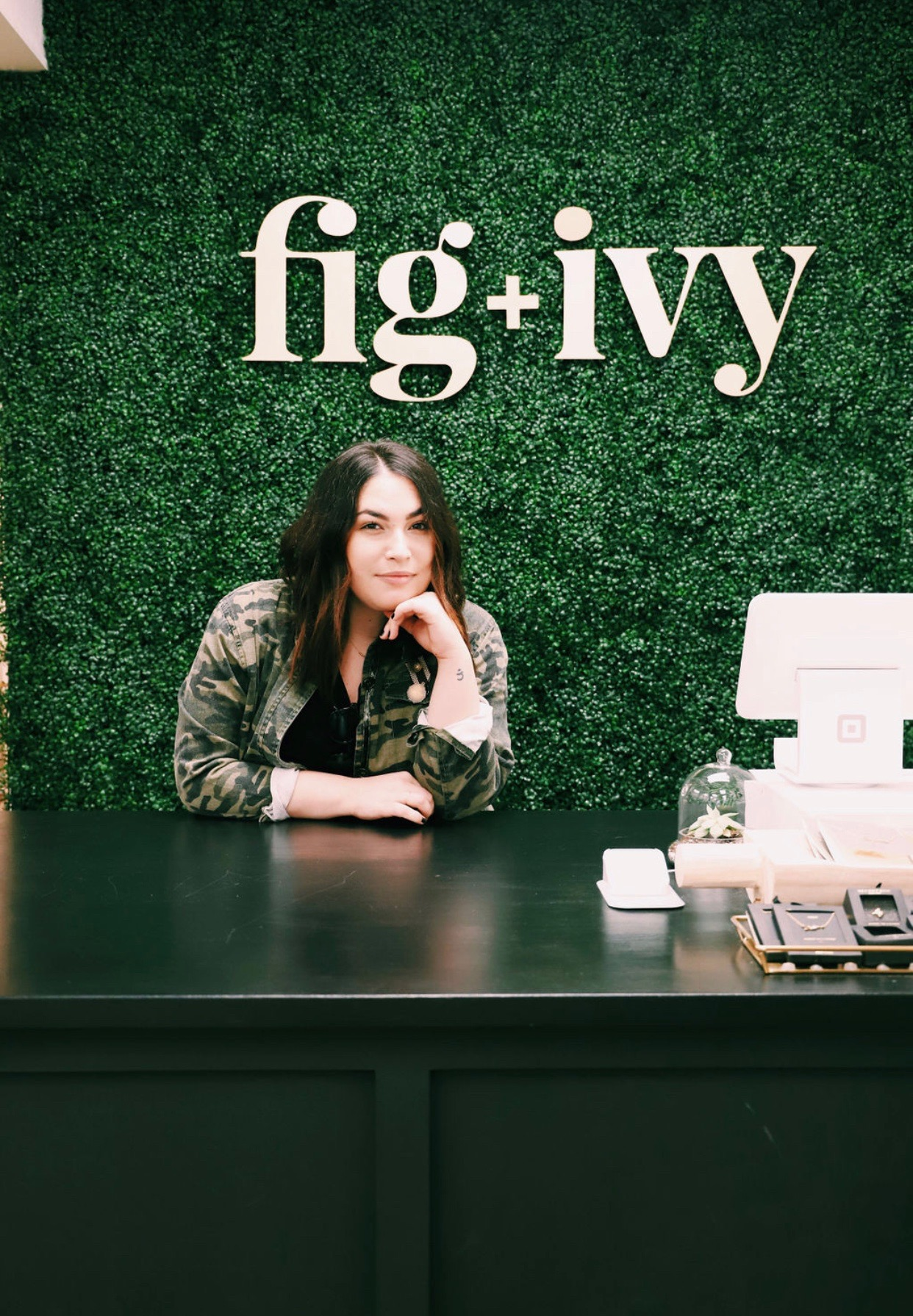 Talia, head stylist at Fig + Ivy Collective in Roseville, California. Visit this shop to learn more about their mission towards size-inclusivity and empowering women in self-love and confidence!