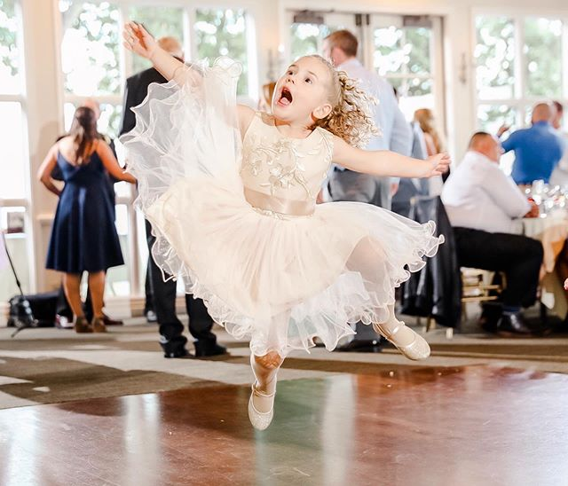 Jumping into Friday like... #flowergirl #happy