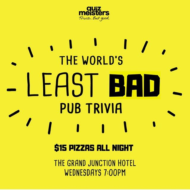 Book in! Shoot us a FaceBook message and we'll lock in your spot tonight. $15 pizzas and heaps of beers to give away.