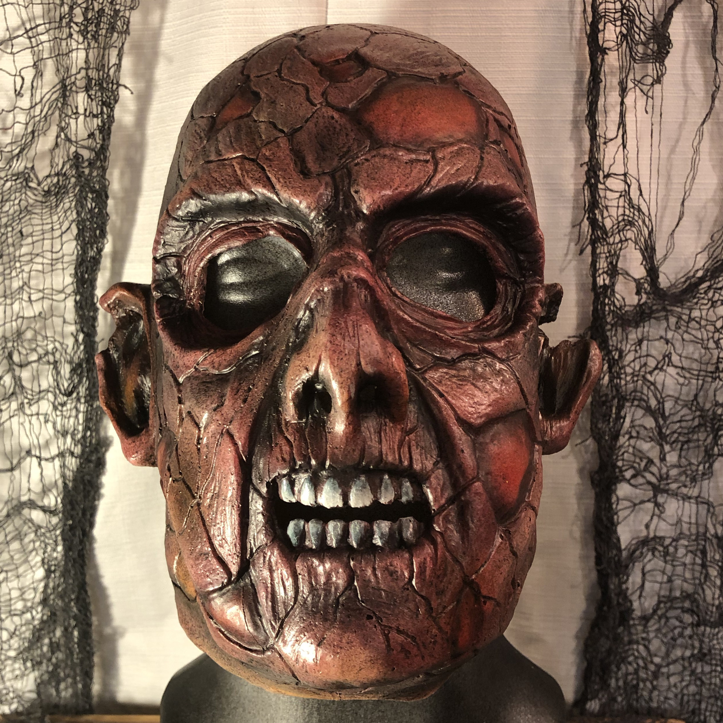 Crispy  $80.00  Wanna look like a zombie that's just crawled out of a fire?  100% Natural Latex Mask