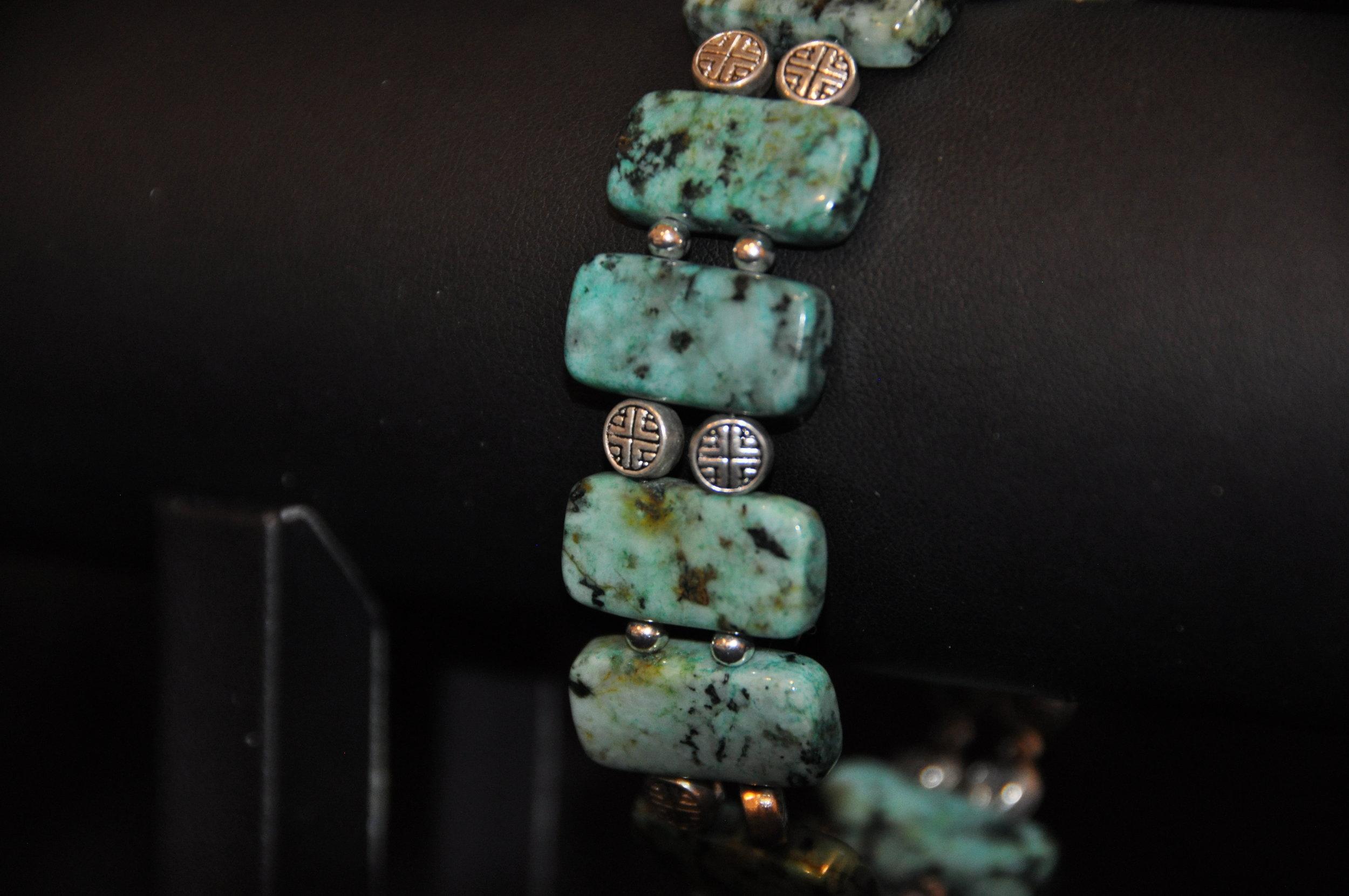 8%22 African Turquoise Bracelet 3.JPG
