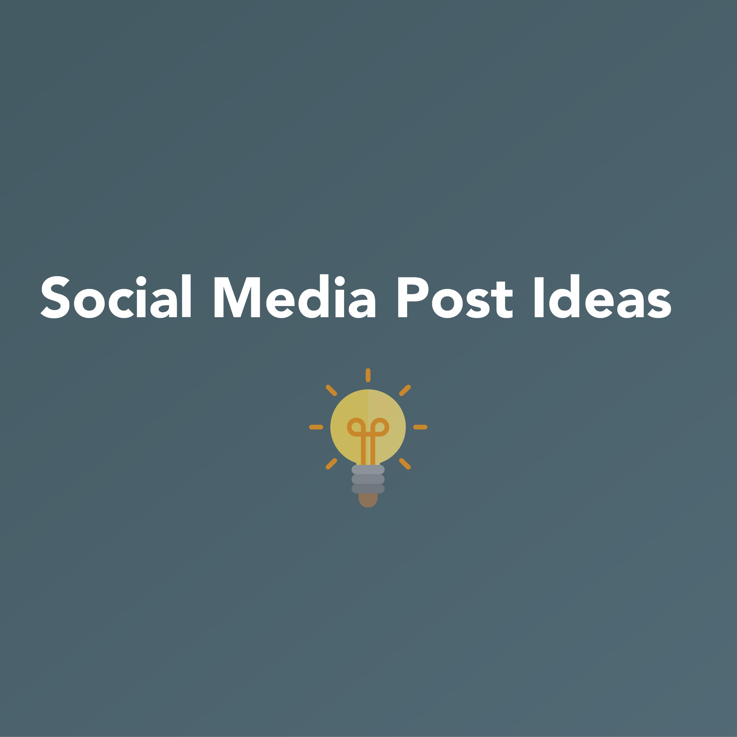 Social Media Posting Ideas   INFOGRAPHIC