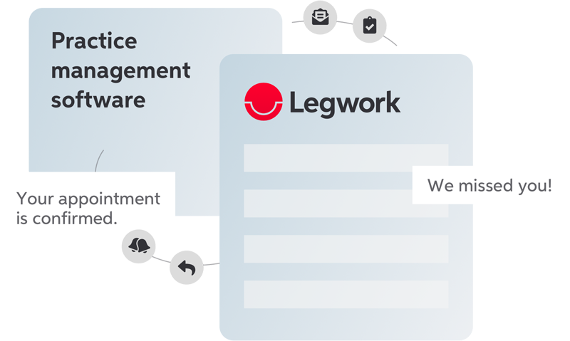 Patient engagement software - Go way beyond scheduling appointments.Legwork syncs with your PMS in real time so you can easily communicate, send appointment reminders and reactivate dormant patients.