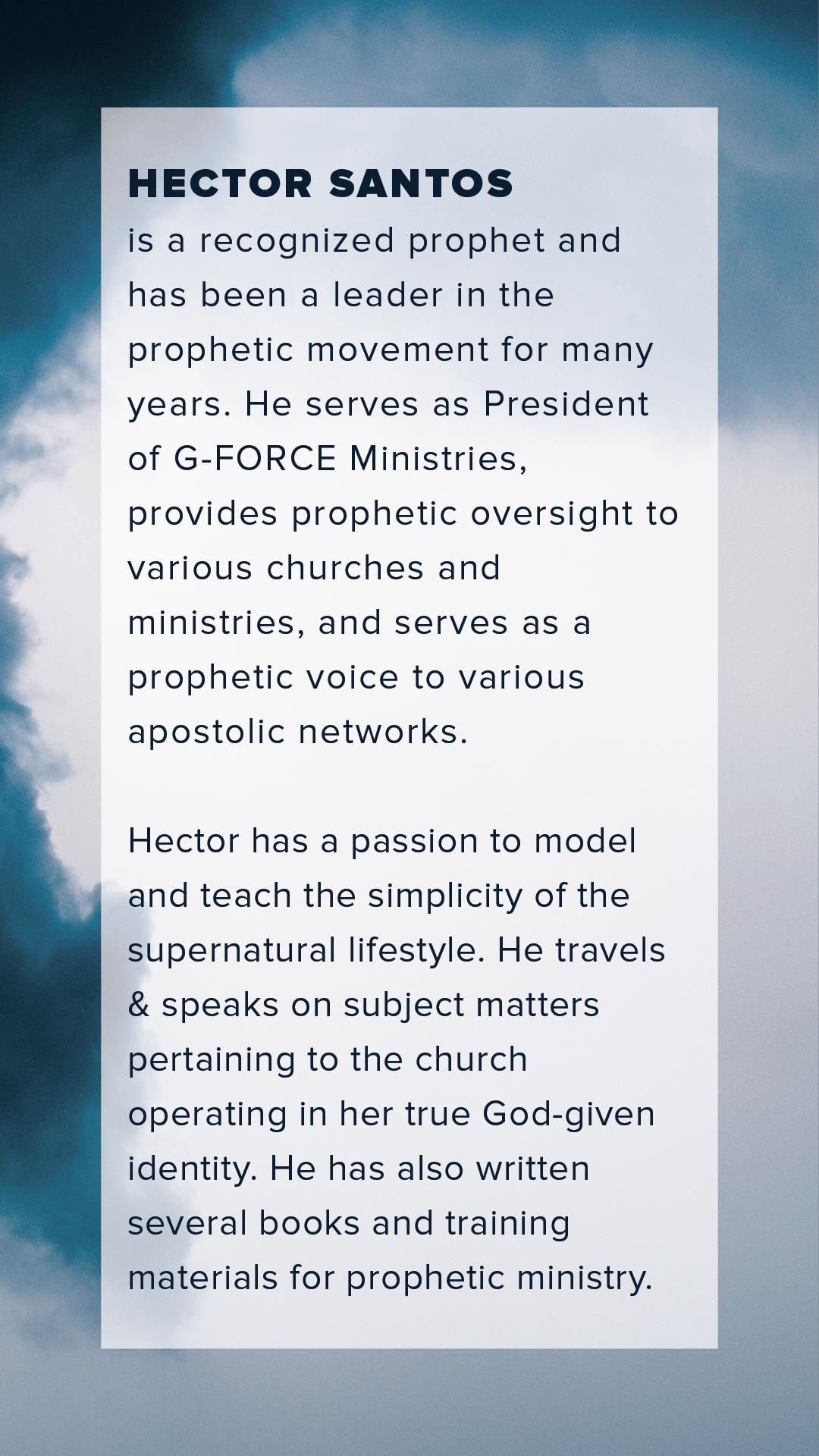 Héctor Santos (Instagram Story Bio)