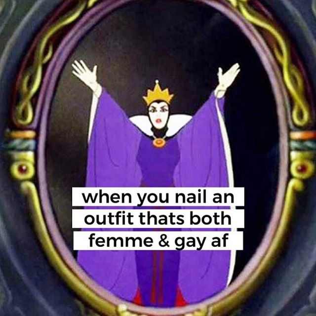 Can you see me now? Good 💋 ⠀⠀⠀⠀⠀⠀⠀⠀⠀ Follow our friend @lesbian_debutante for more femme memes.