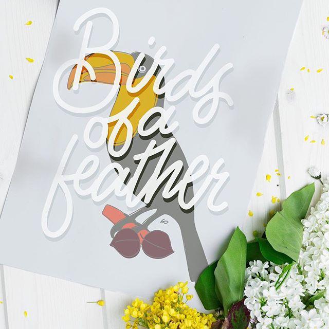 Flock together . . . . . #lettering #handletter #handlettering #handlettered #goodtype #typematters #dailytype #handmadetype #typography #typespire #typegang #slowroastedco