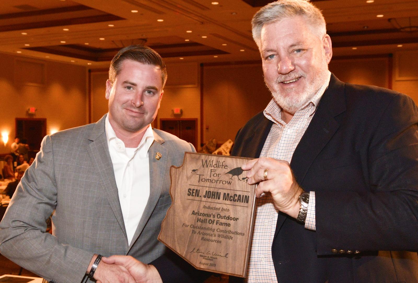 Wildlife for Tomorrow Award Sen.John McCain-son receivingon his behalf-X3 (1).jpg