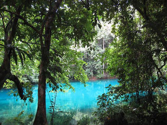 A blue hole in vanuatu