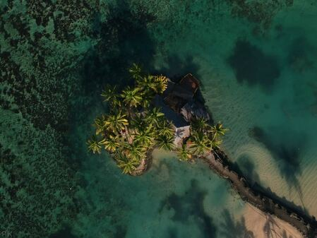 an image of a fijian home taken from above