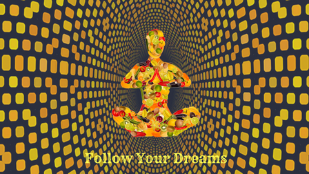 image of a person meditating- Follow your dreams