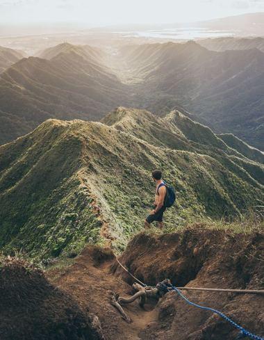 Mahana ridge trail in Maui, HI