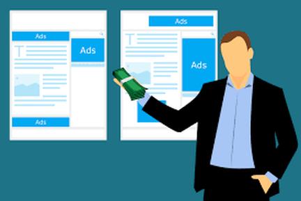 man making money from google ads image