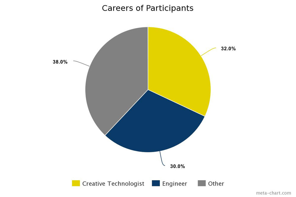 Careers of Participants pie chart