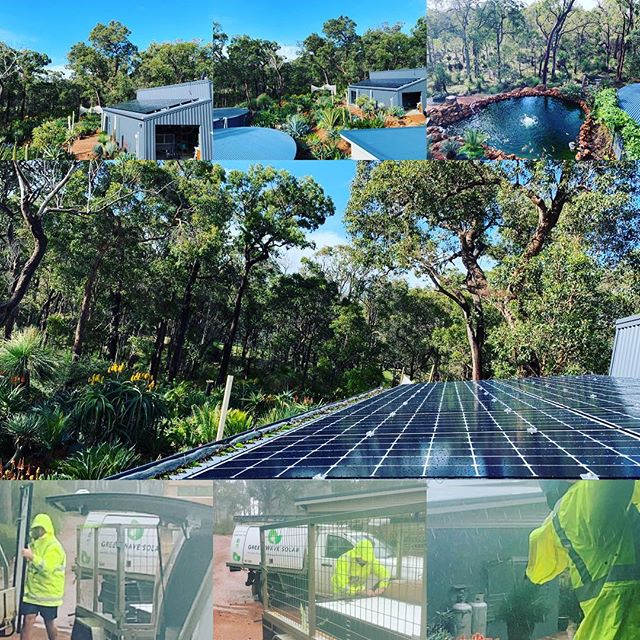 The things you have to do to get the job done! Well done to the team today. Awful conditions, amazing surroundings in Yallingup, a little secluded oasis.  18 x 370w LG's, coupled with a Fronius 5kw inverter. Battery ready and pretty damn good looking!  Call us to discuss your solar energy needs.  #sunshine #lollipops #rainbows  #greenwavesolar #placeoflove #southwesternaustralia #dunsborough #alittlerayofsunshine #margaretriver #justdoit #southwestwa #fronius #qcells