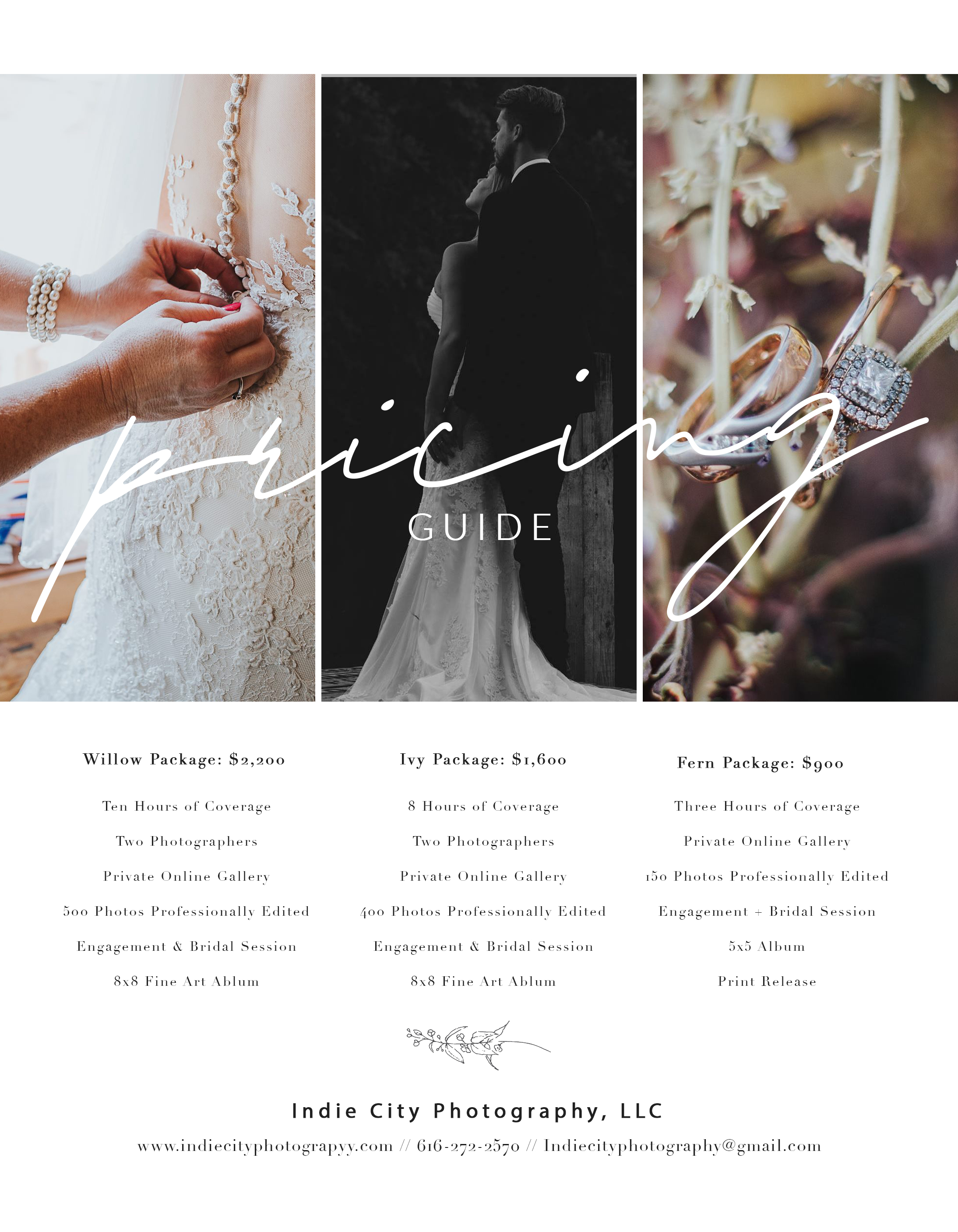 Wedding Investments  - Custom Packages available