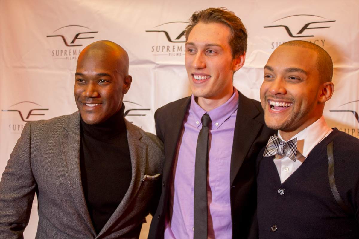 CEO of Supremacy Films Errol Sadler (Left), Actor Jean-Luc McMurtry, (Middle) Director Brandon Thaxton (Right)
