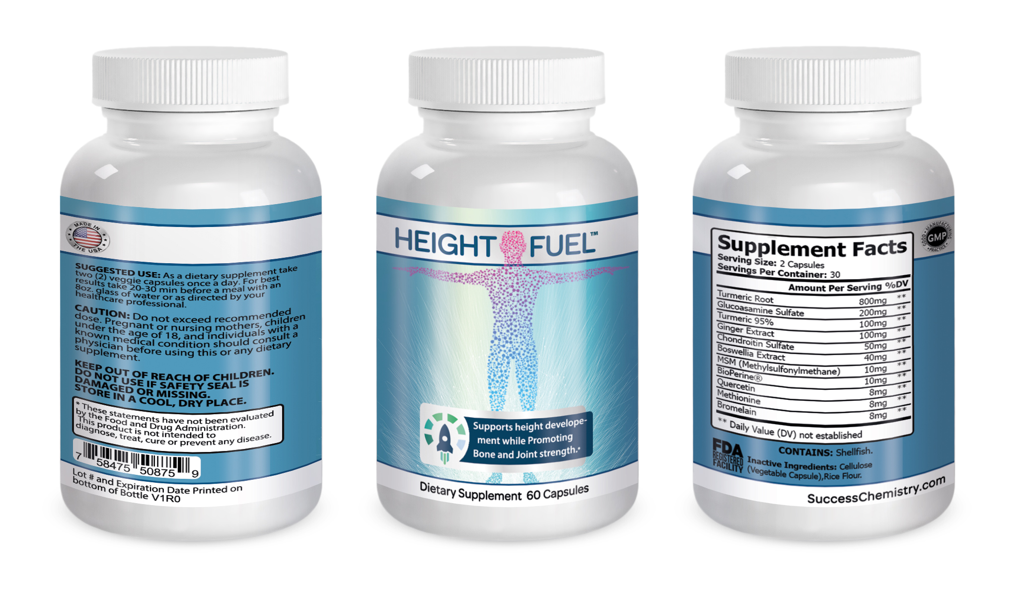 Height supplement | Grow taller faster | Height enhancement - UPC: 651074168143