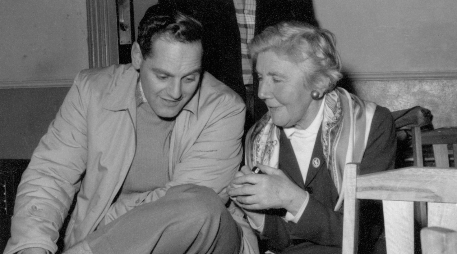 Dorothy Gibson and Joe Kiers at a celebration in Melbourne for Paul Robeson's birthday on 9th April 1962