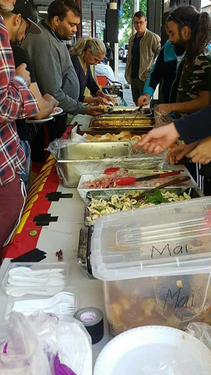 The wide variety of nutritious home cooked and donated food is always plentiful