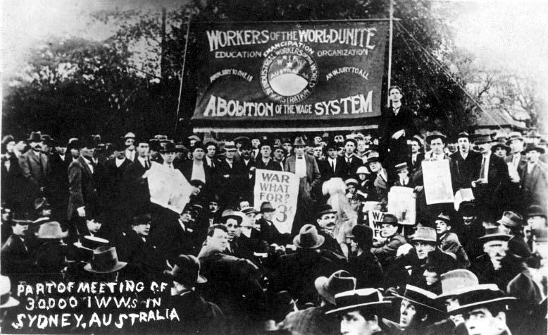 IWW Mass Meeting in Sydney, Australia - September 11, 1916