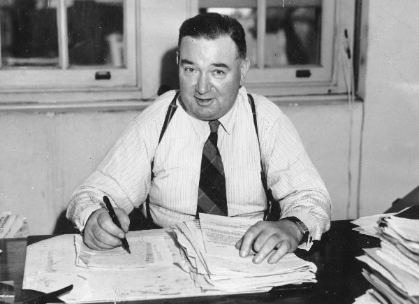 """""""Big Jim"""" Healy, Australian trade unionist and communist activist. Healy served as General Secretary of the Waterside Workers' Federation of Australia from 1937 to his death in 1961."""