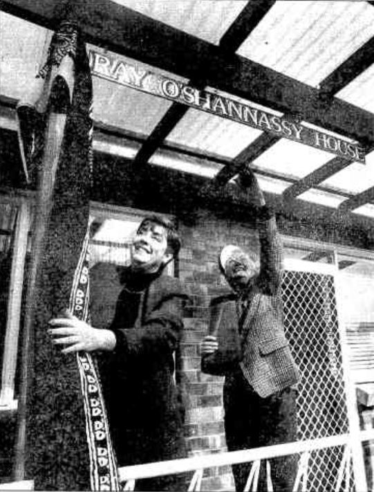 The opening of the Ray O'Shannassy House in Narrabundah, ACT - 1993