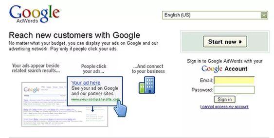 Example of PPC Google Adwords