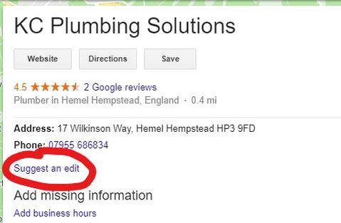 Google My Business editing