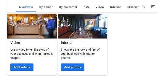 Google My Business add photos