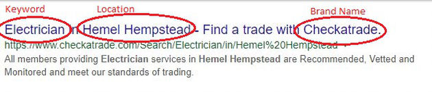 Example of well written meta title SEO