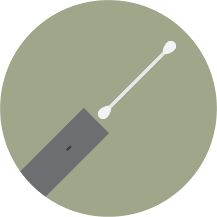 Clean the device with a Q-tip before inserting the cartridge back to the device.