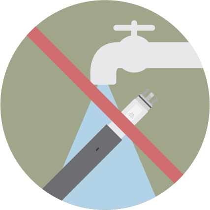 Do not wash the device and the cartridge. Cliq device is NOT water proof. Wash ONLY the mouth piece and the tip.