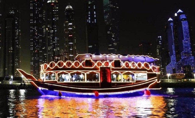Dhow Cruise - Cruising down Dubai creek is a novel experience, dinner on a Dhow Cruise with the fascinating lights of Dubai creek with music and belly dancing with a sip of your favorite drink and BBQ buffet dinnerDate: To be updated soonTime: 6:00 pm - 9:00 pmPrice: Complimentary
