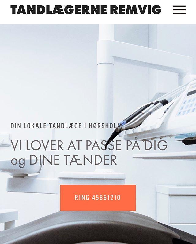 Nyt look til hjemmesiden. 💡#tandlægerneremvig #hørsholm #tandlæge