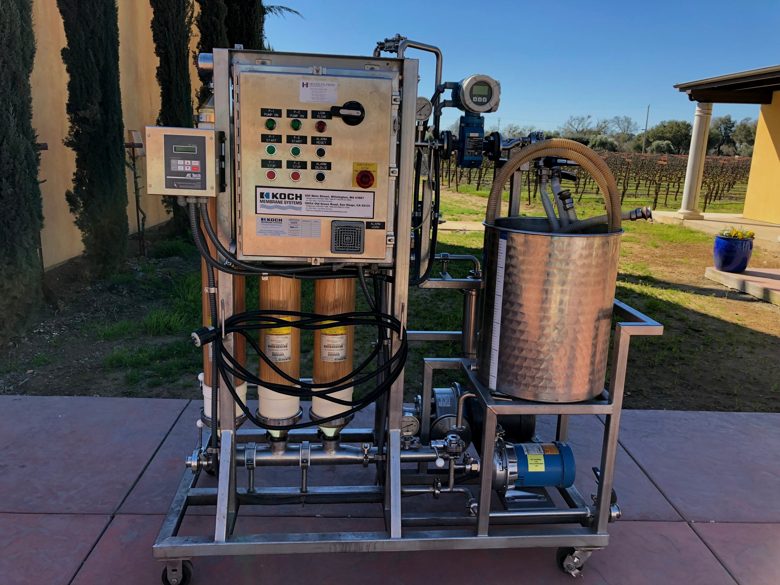 wine filtering by eno-logic