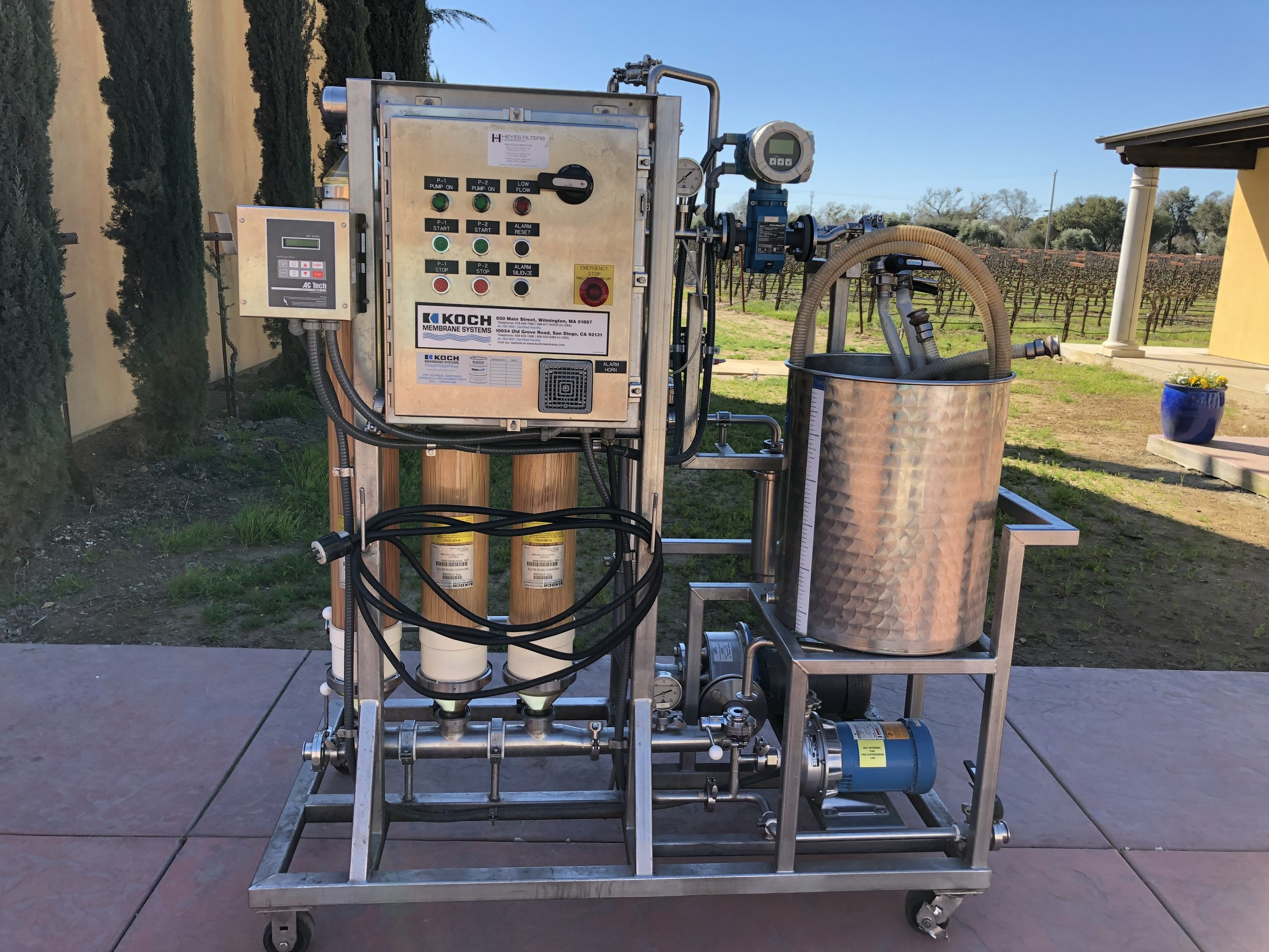 mobile wine filtering