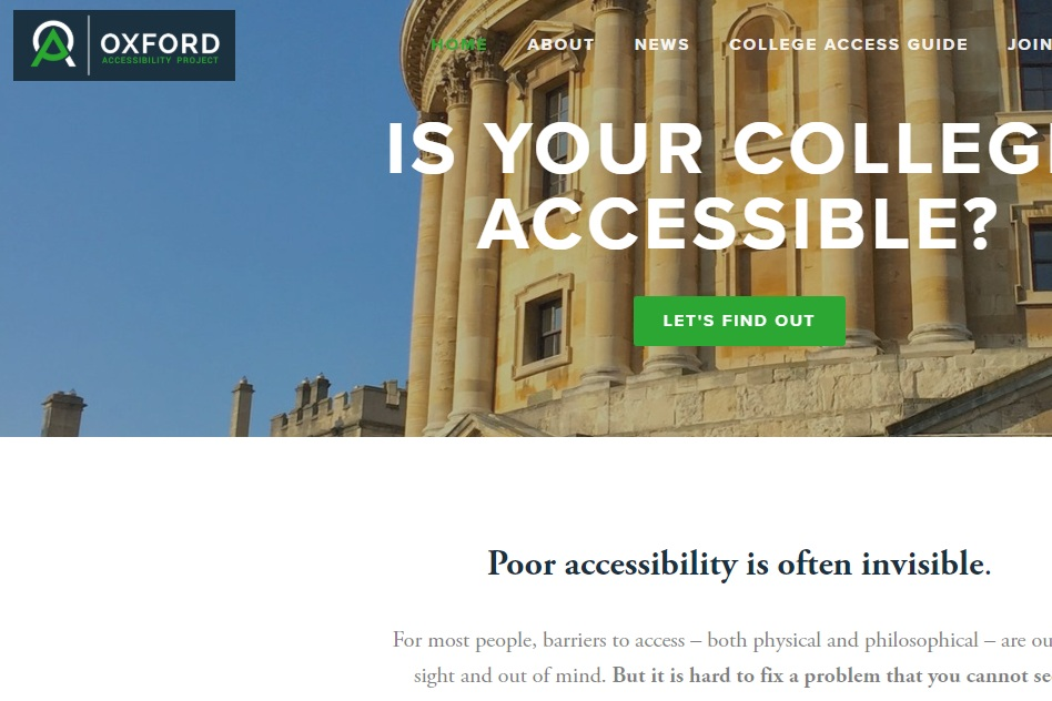 Oxford Accessibility Project - OAP are a young not-for-profit that maps building accessibility for wheelchair users in Oxford.