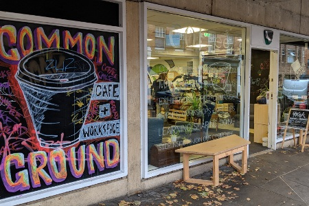 Common Ground - Common Ground Café & Social Workspace is a social enterprise pop-up in an Oxford University building, open to everyone.