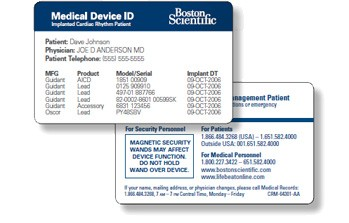 Implant ID Card - Every implanted patient should have this important card that identifies the make, model and serial number.If you can't find yours, contact us and we can help you request a new one.