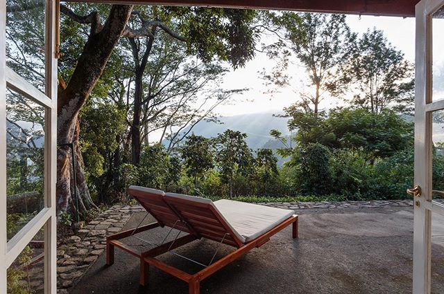 The perfect afternoon chill spot to watch the sunset over the mountains 🌿