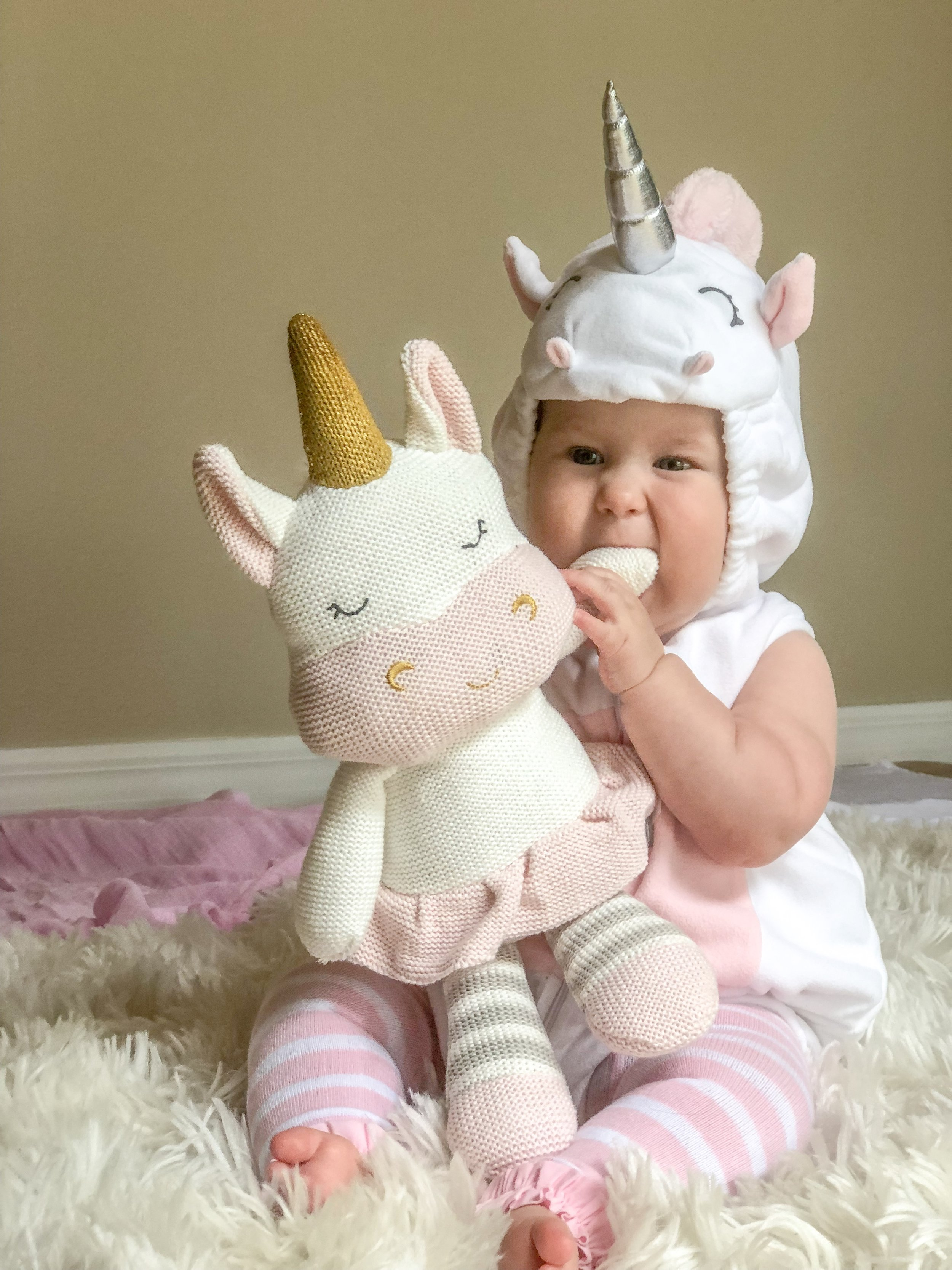 So cute, right?! This was one of my daughters Halloween Costumes in 2018! Of course she had to have two costumes for her very first Halloween! She is about 8 months old here!