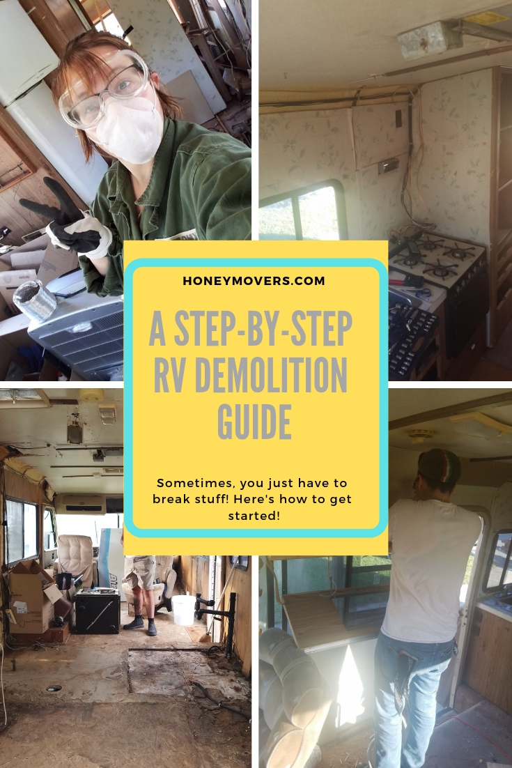 A Step-By-Step Guide to RV Demolition - How to Get started! Pin this to one of your boards to reference for later!