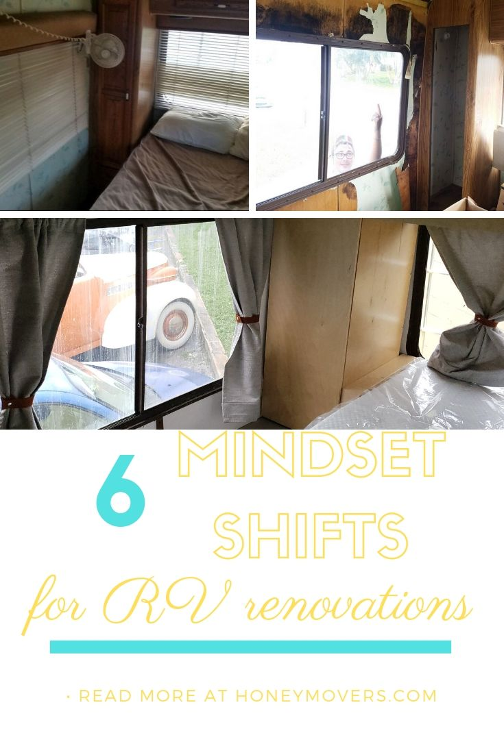 6 Mindset Shifts for RV Renovations. Pin this to share or save for later!