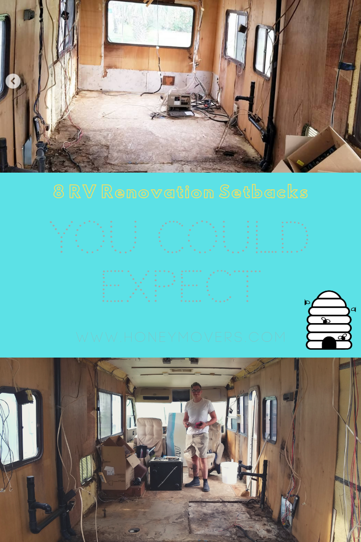 8 Setbacks You Could Face During Your RV Renovation - Pin this to share or save for later!