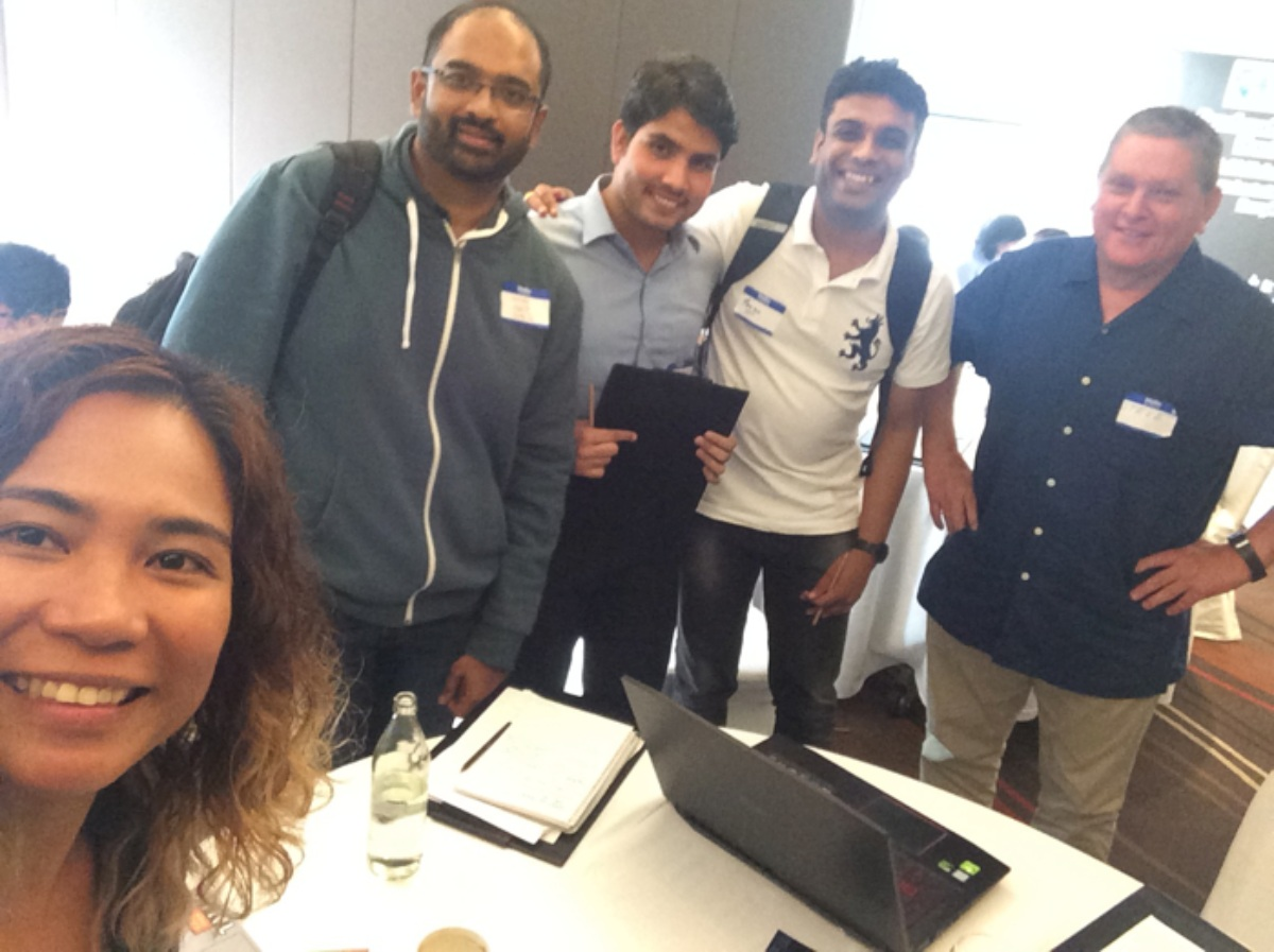 First Place: IT experts Laurice Dagum, Vinay Balaji, Guatam Dadhich, Tarun Sharma and Challenge Author, Stephen Fisher from Sea Delight