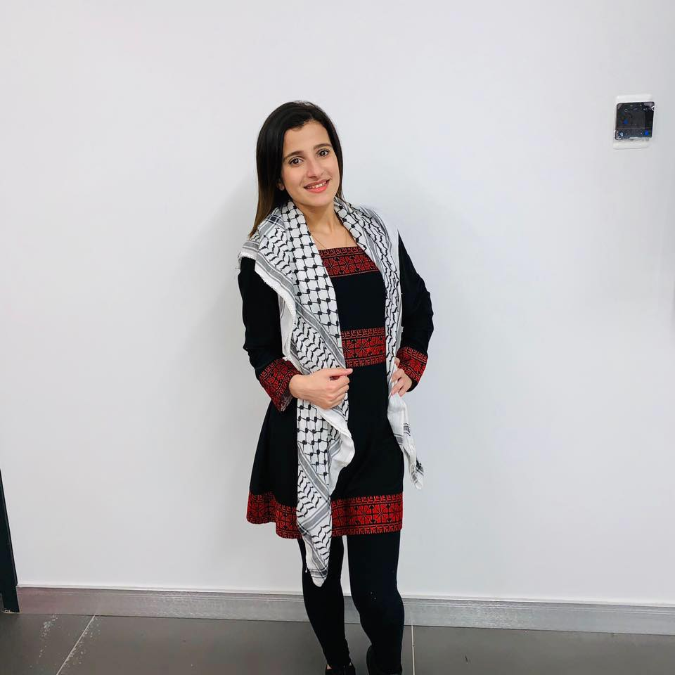 Hanine Ghazawneh   Hanine Ghazawneh is a Palestinian-American dabke instructor and a College Student majoring in biology. Hanine was born in the US but lived in Palestine for 10 years and taught dabke to youth at schools and universities in the West Bank. She now teaches Dabke to Palestinian and Arab Youth in Bay Ridge, as a part of Within Our Lifetime's cultural resistance program.