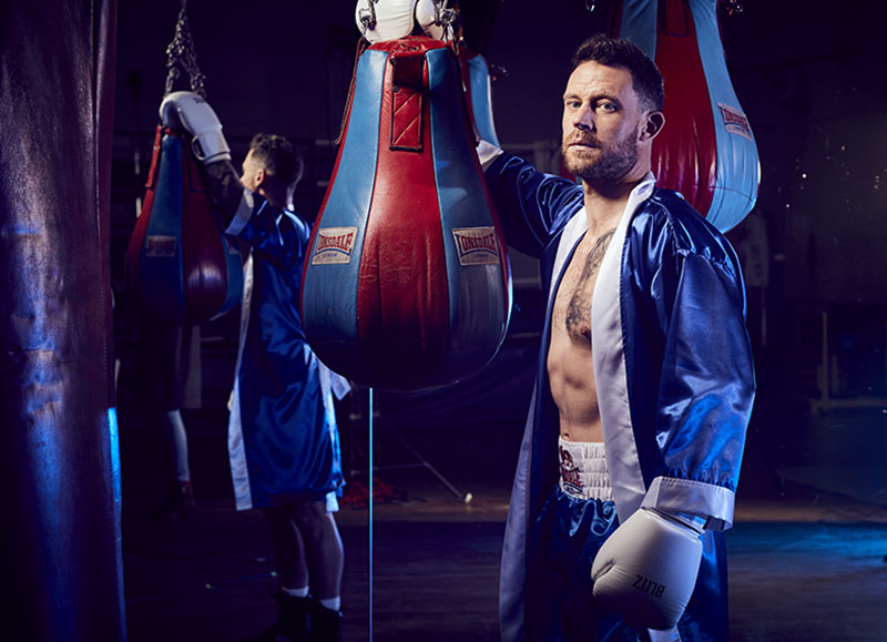 celebrity boxing images for BBC. Jon Enoch