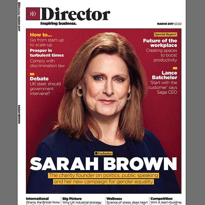 Sarah Brown for Director magazine