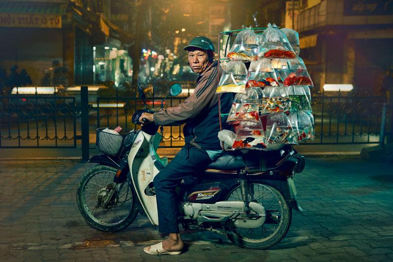 Hanoi Fish Man - Lifestyle Photography